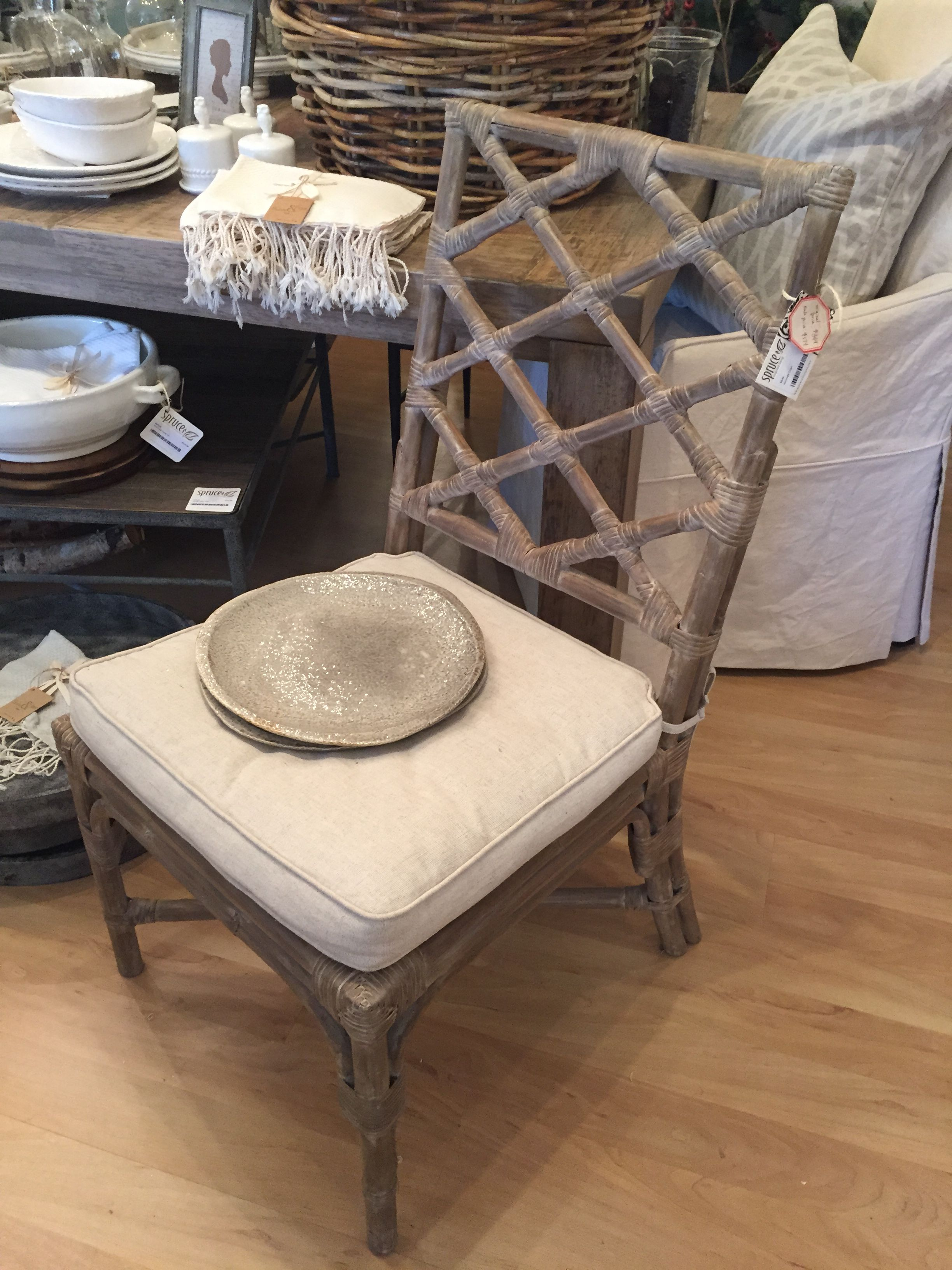 Chippendale Couchtisch Washed Oak Rattan Chippendale Chair With Cushion 174 Audra