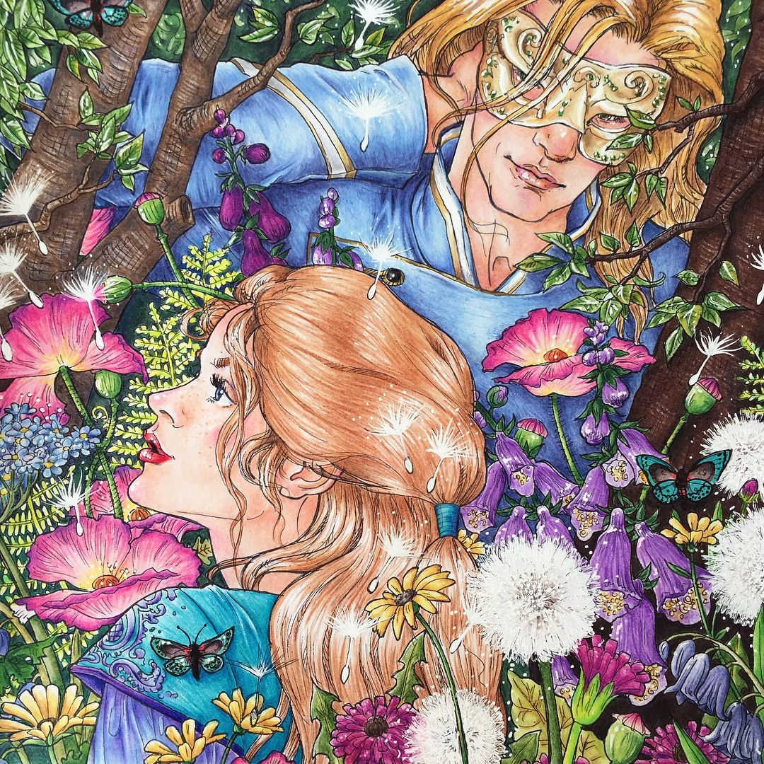 Pin By Razel On A Court Of Thorns And Roses Coloring Book Art