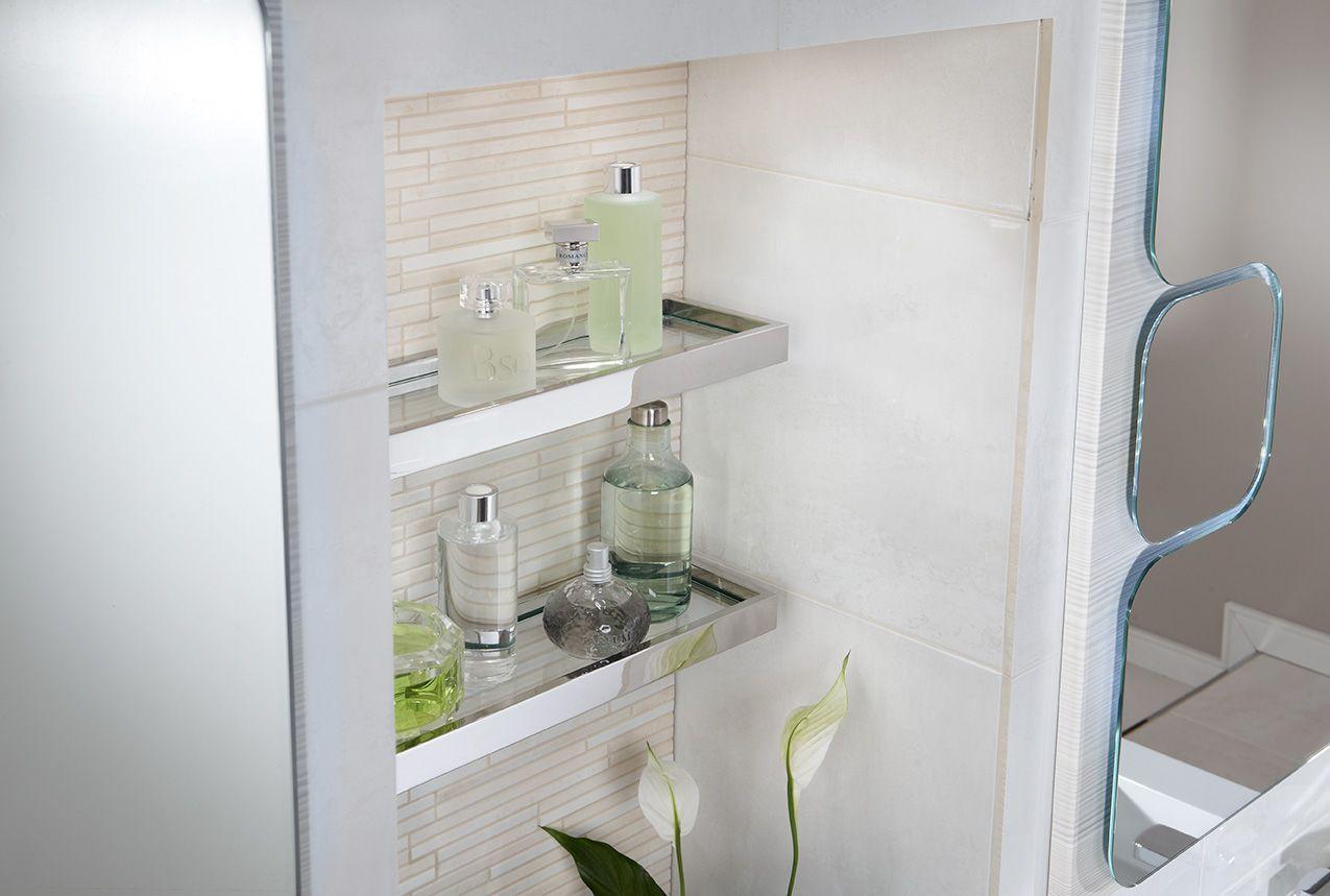 Quantum glass shelves #bathroomfurniture #myutopia  Modular