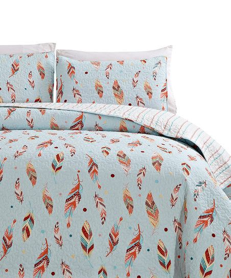 A vibrant feather pattern enlivens your room with boho-inspired style and a  soft cotton blend keeps your slumbers warm and comfy. df4a472539e8a