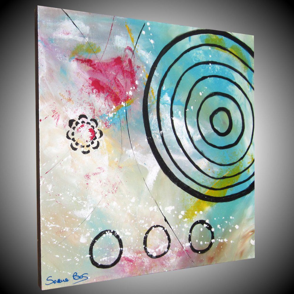 abstract art arte astratta dipinto astratto olio su tela 60x60 ...
