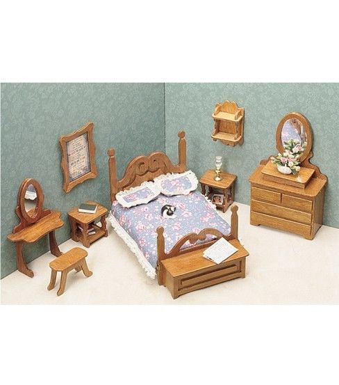 Greenleaf Dollhouses Greenleaf Dollhouse Furniture - Bedroom Set