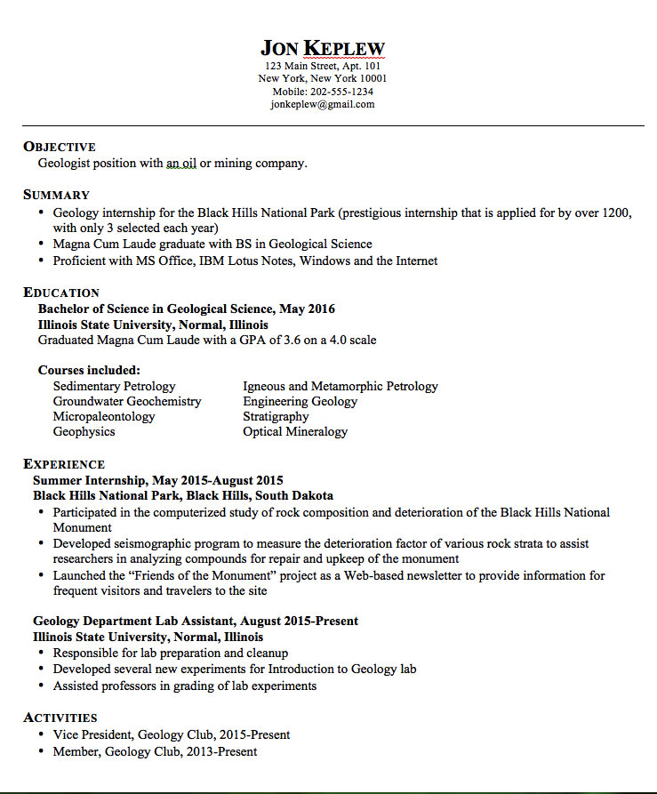 geologist resume examples httpexampleresumecvorggeologist resume - Geologist Sample Resumes