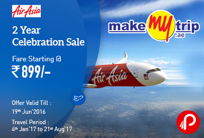 AirAsia 2nd Anniversary Sale Fare Starting Rs.899