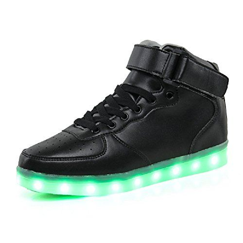 9f239eadca7aa DEMANGO Women Men High Top USB Charging 7 Colors Light up LED Colorful Glow  Shoes Flashing Sneakers -- Want to know more