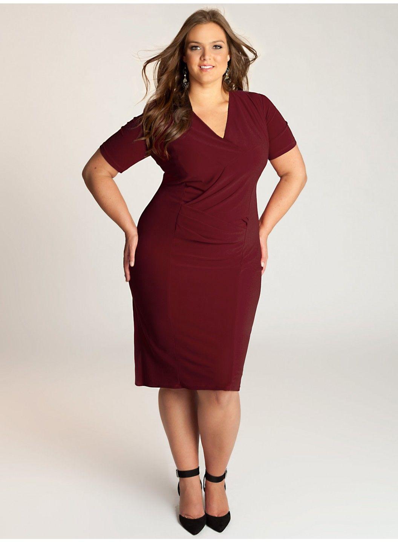 Brooke Plus Size Dress in Burgundy - Dresses by IGIGI   moda plus ...