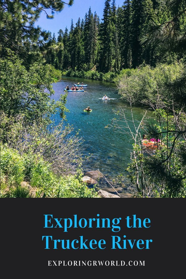 Truckee River in California at Lake Tahoe offers rafting, and hiking and biking on the rail trail. #TruckeeRiver #LakeTahoe #California #Bicycling