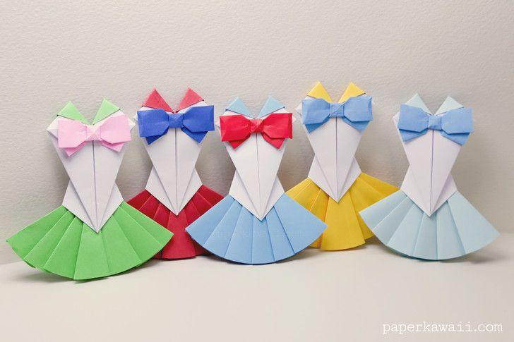 Origami Sailor Moon Dress Tutorial Craftorigami Pinterest