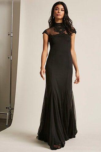 Kikiriki Floral Beaded Mesh Maxi Dress   Liz Prom Dresses ...