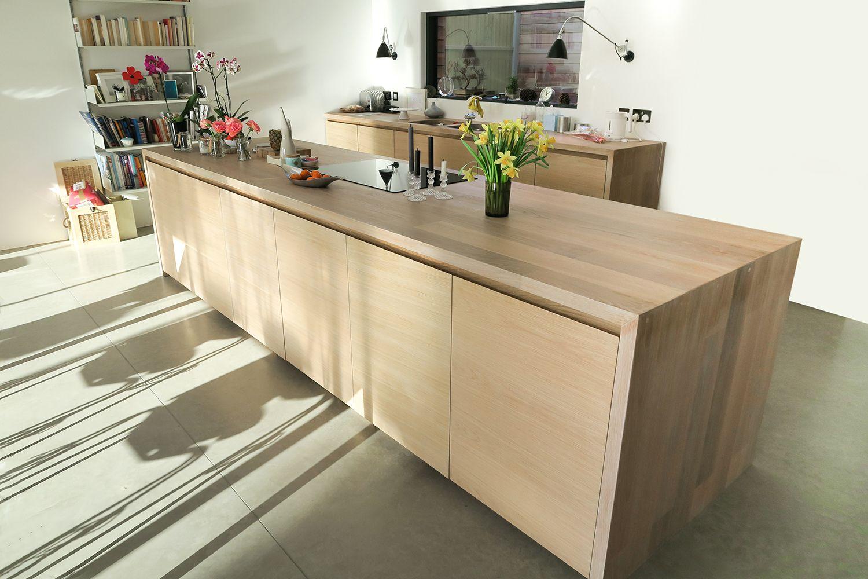 modern oak veneer cabinets | Kitchen design, Kitchen door ...