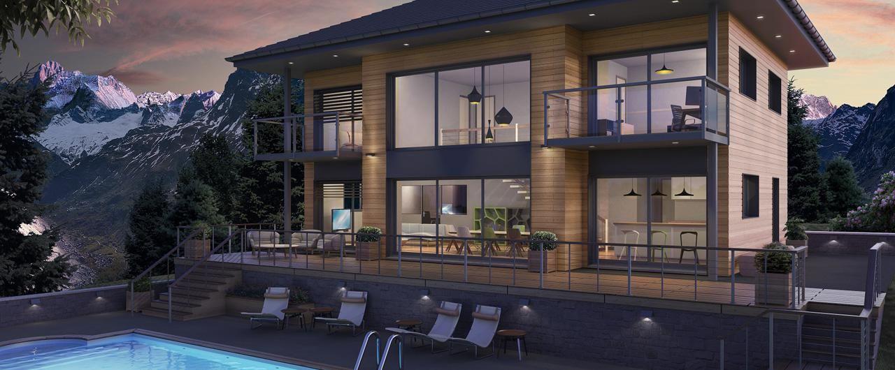 fort de son exprience dans la construction de maisons bois nous construisons des maisons bois nergie positive un prix abordable - Prix Construction Maison Neuve 200m2