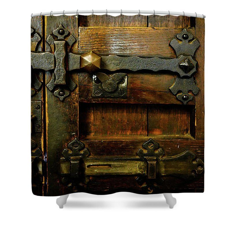 Doors of the World Series by Lexa Harpell. Locked and Bolted Door of England Shower  sc 1 st  Pinterest & Locked And Bolted Shower Curtain | World World series and Products