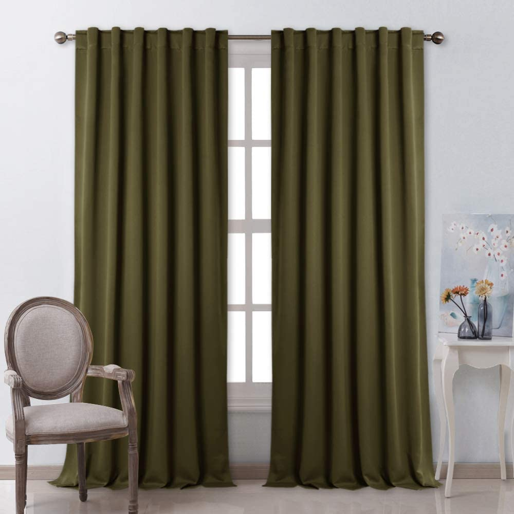 Amazon Com Nicetown Blackout Curtain Panels Window Draperies