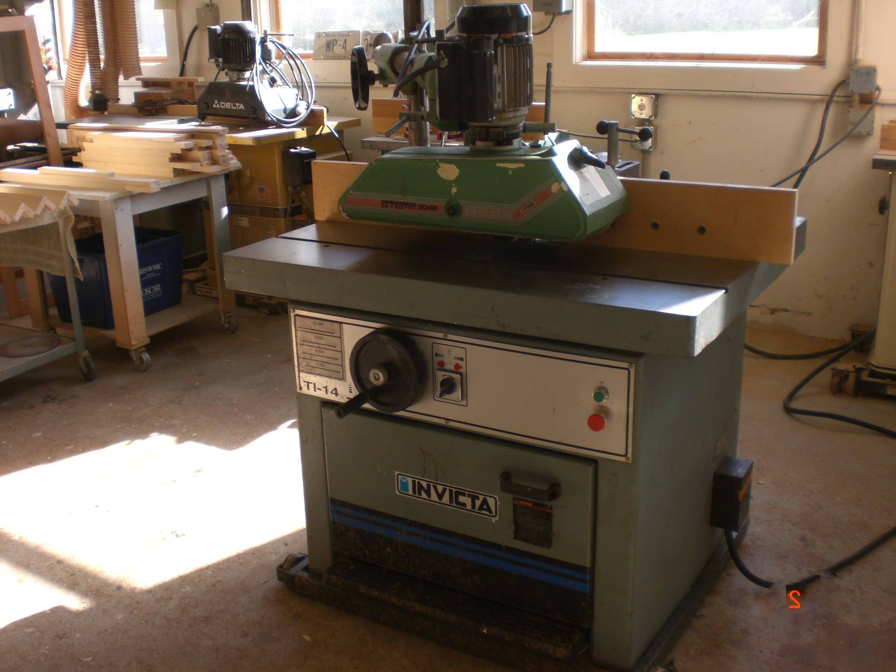 Invicta Ti 14 Shaper With Power Feed Used Woodworking Machinery Shaper Machinery For Sale