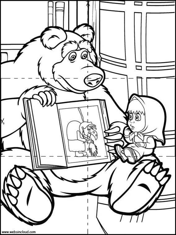 Puzzles Rompecabezas para imprimir para niños Masha y el Oso 11 ...