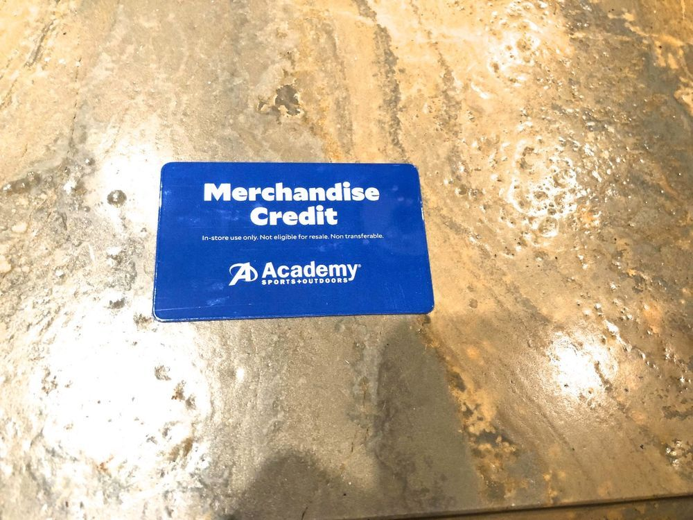 ACADEMY SPORTS MERCHANDISE CREDIT,NO RESERVE, 81.17,IN
