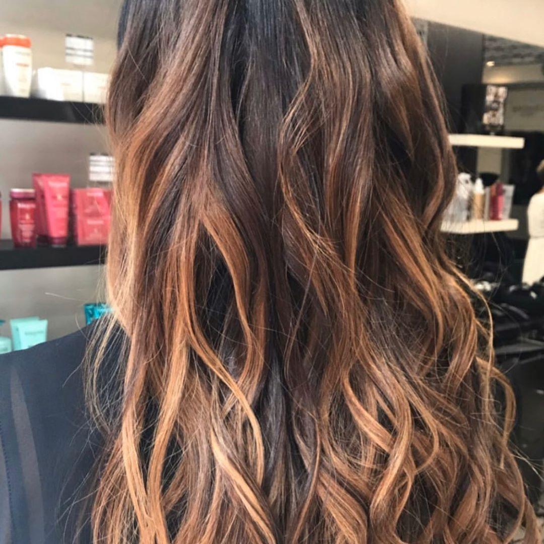 Ombre Caramel Coiffure Cheveux Longs Coiffeur