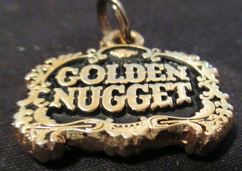 """""""GOLDEN NUGGET"""" Hotel Casino Las Vegas Emblem men's charm pendent! #Vintage rare #Pendantcharm"""