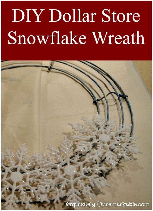 Dollar Store Snowflake Wreath Diy Christmas Snowflakes