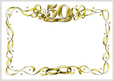 50th Wedding Anniversary Clip Art Borders 1043611 Jpg