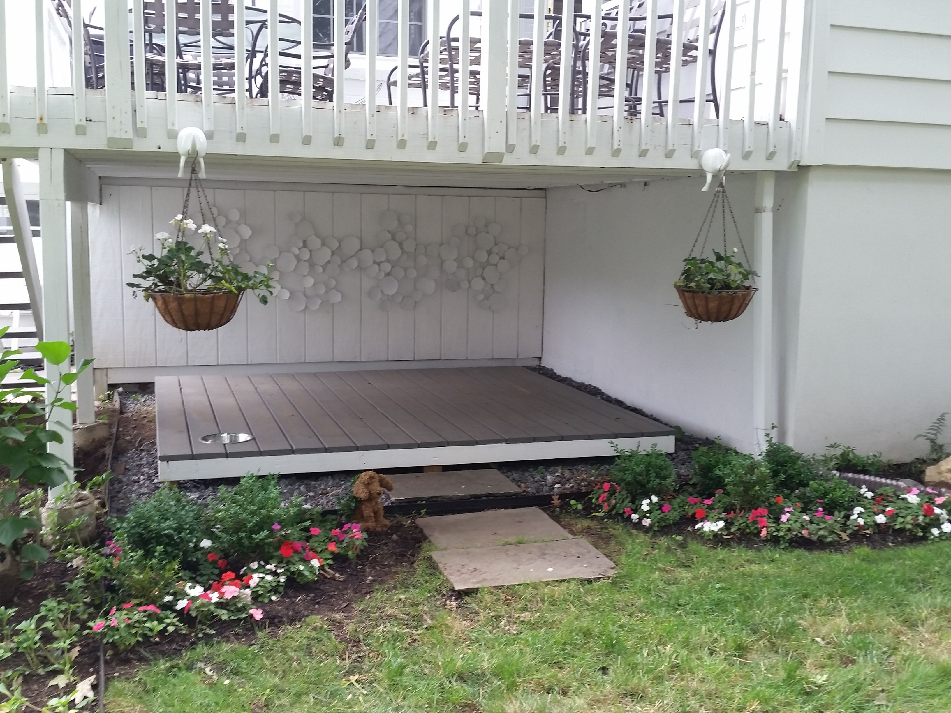 My Pooch Porch Under The Deck Creative Solution For What To Do