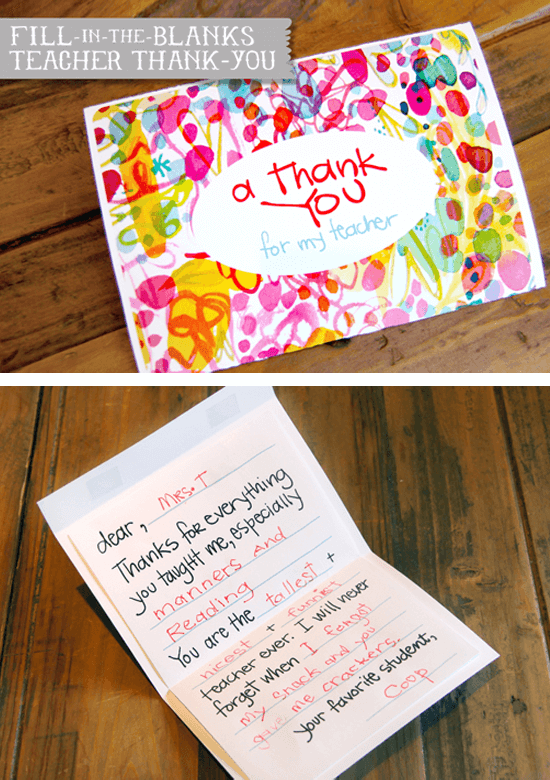 27 diy printables to make your end of year teacher's gift