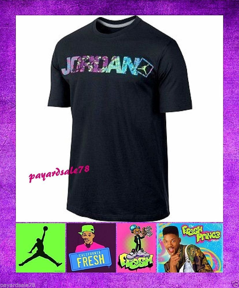 42d786d03da VERY RARE MEN'S SMALL NIKE FRESH PRINCE BEL AIR T-SHIRT BLACK RETRO 5 TEE  NWT #NIKE #GraphicTee