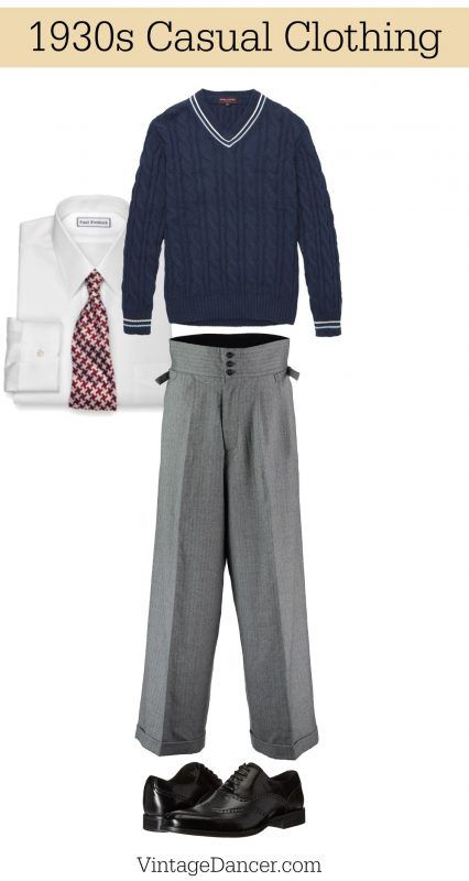 1930s Menswear Outfit Clothing Ideas Mens Fashion Casual