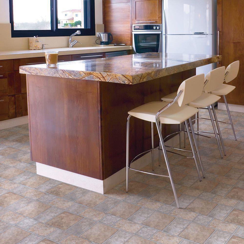 Trafficmaster allure 12 in x 36 in yukon tan resilient vinyl trafficmaster allure 12 in x 36 in yukon tan resilient vinyl tile flooring doublecrazyfo Images