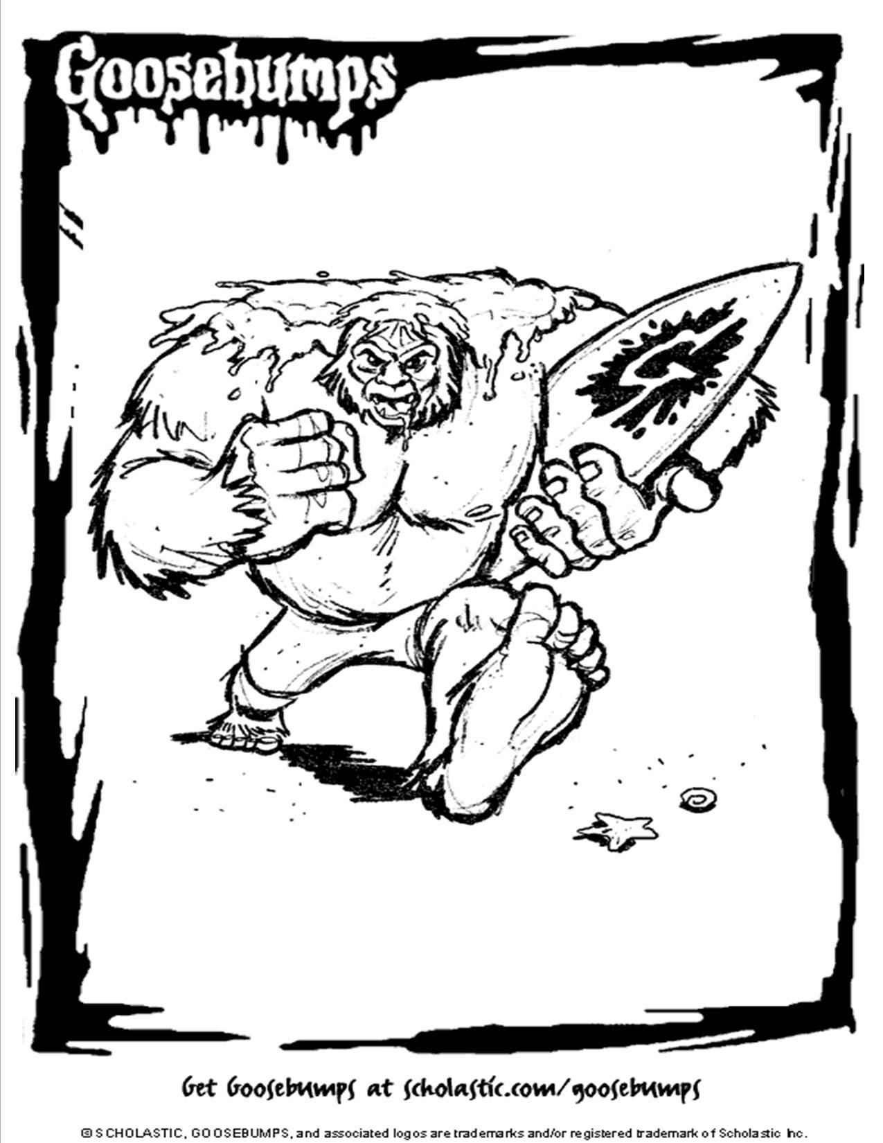scholastic goosebumps werewolf coloring page