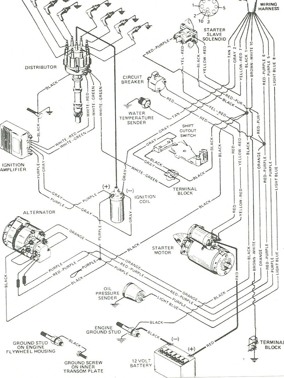 Mercruiser Wiring Diagram Free For You Alternator 30 140 Rh Pinterest Com 43