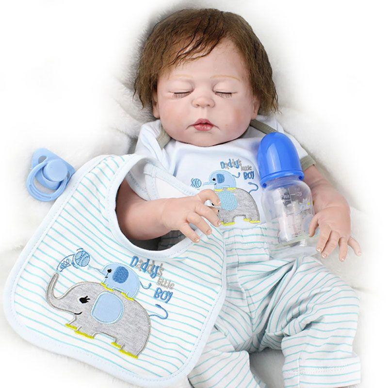 Cheap Full Body Silicone Vinyl Newborn Lifelike Reborn Boy Doll With Clothes Kid