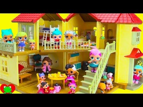 LOL Surprise Doll Mansion Really Big House Full of Surprises - YouTube