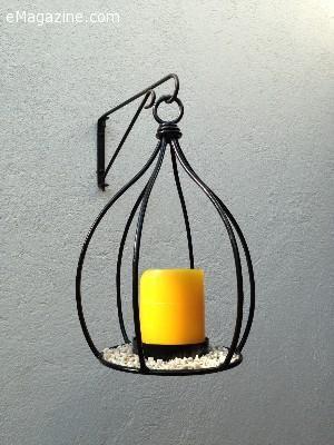 adornos en metal para la casa o jardn para colocar candelas velas