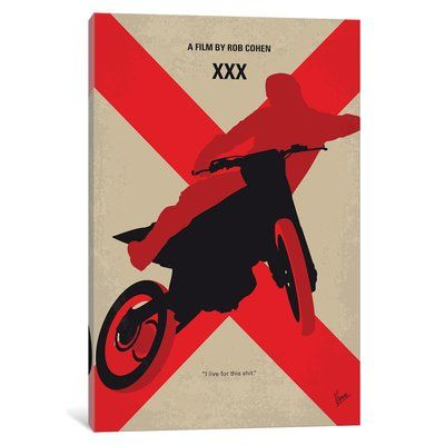 "East Urban Home 'XXX' Graphic Art Print on Canvas Size: 40"" H x 26"" W x 0.75"" D"
