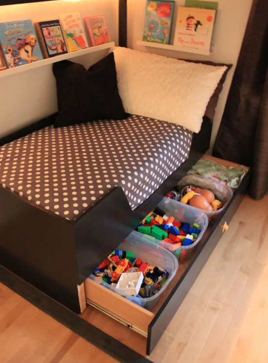 50 Clever Kid's Bedroom Storage Ideas You Won't Wa