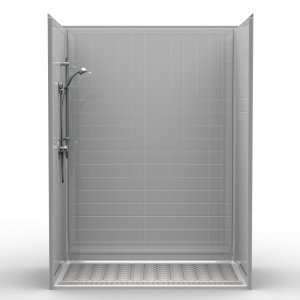 Multi Piece Barrier Free 60 X 36 X 81 1 2 Shower Traditional