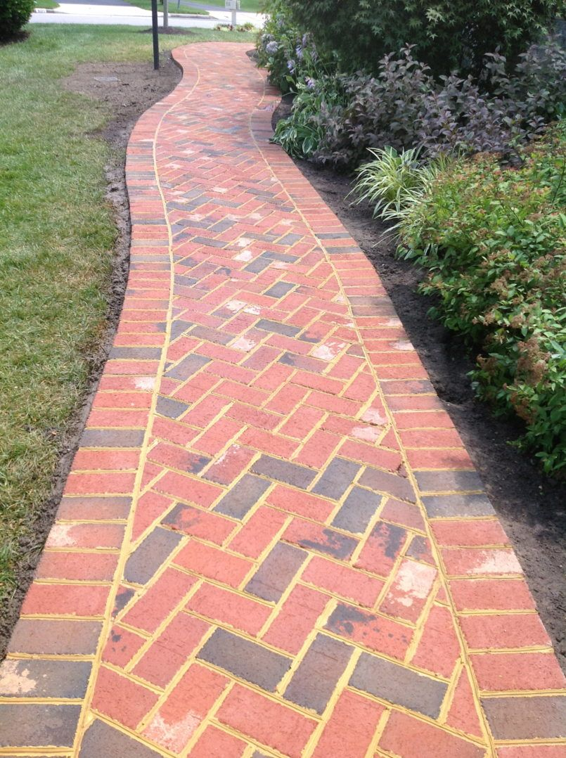 Exterior Brick Walkway Patterns With How To Lay Brick Pavers