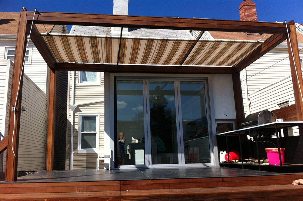 Retractable Patio Awning by LITRA | Small apartment patio ...