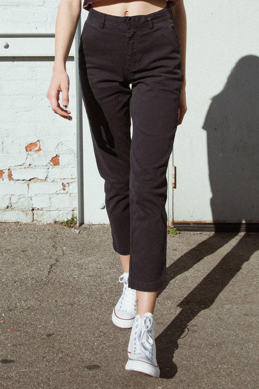 Brandy Melville black high rise stretchy cropped jaycee leggings NWT