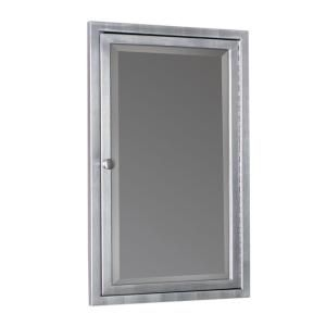 Deco Mirror 16 In W X 26 In H X 4 1 2 In D Framed Single Door Stainless Steel Recessed Bathroom Medicine Cabinet In Brush Nickel 6291 Recessed Medicine Cabinet Adjustable Shelving Glass Shelves