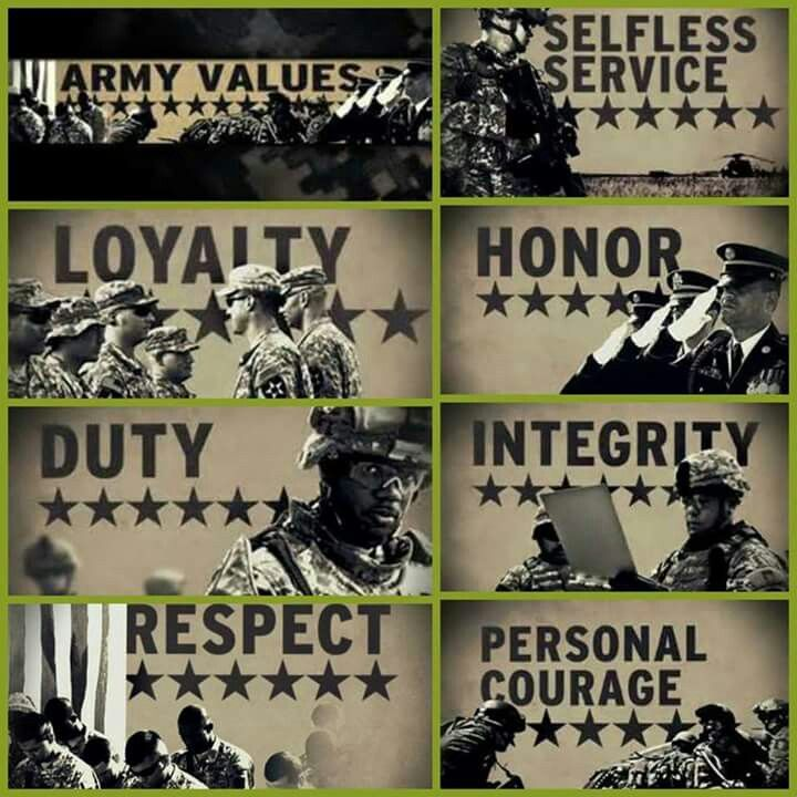 hooah army values military poster