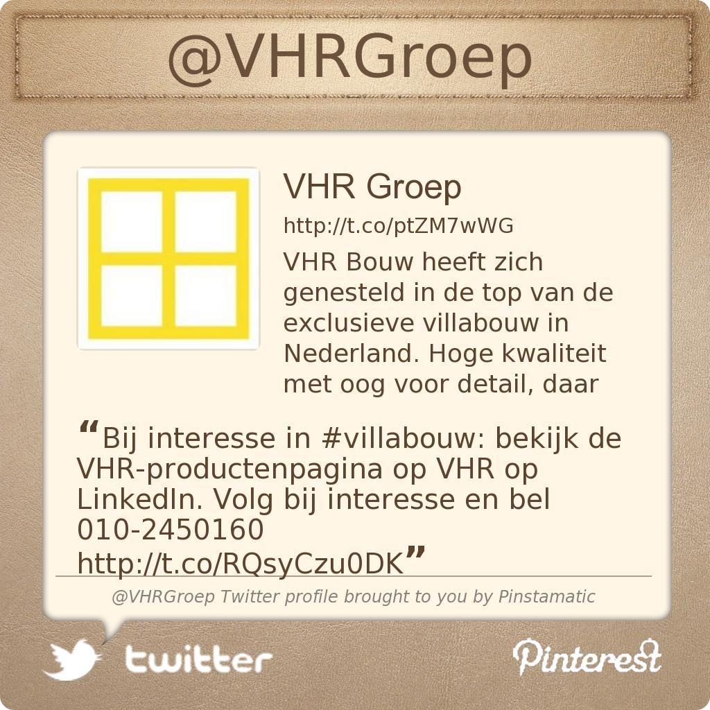Bij interesse in #villabouw: bekijk de VHR-productenpagina op VHR op LinkedIn. Volg bij interesse en bel 010-2450160 http://www.linkedin.com/company/vhr-groep/products …