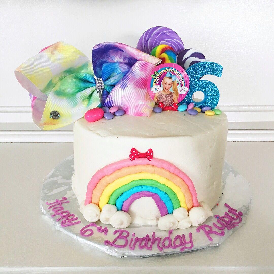 Awesome Rubys Jojo Siwa 6Th Birthday Cake Jojo Siwa Birthday Cake 6Th Personalised Birthday Cards Veneteletsinfo