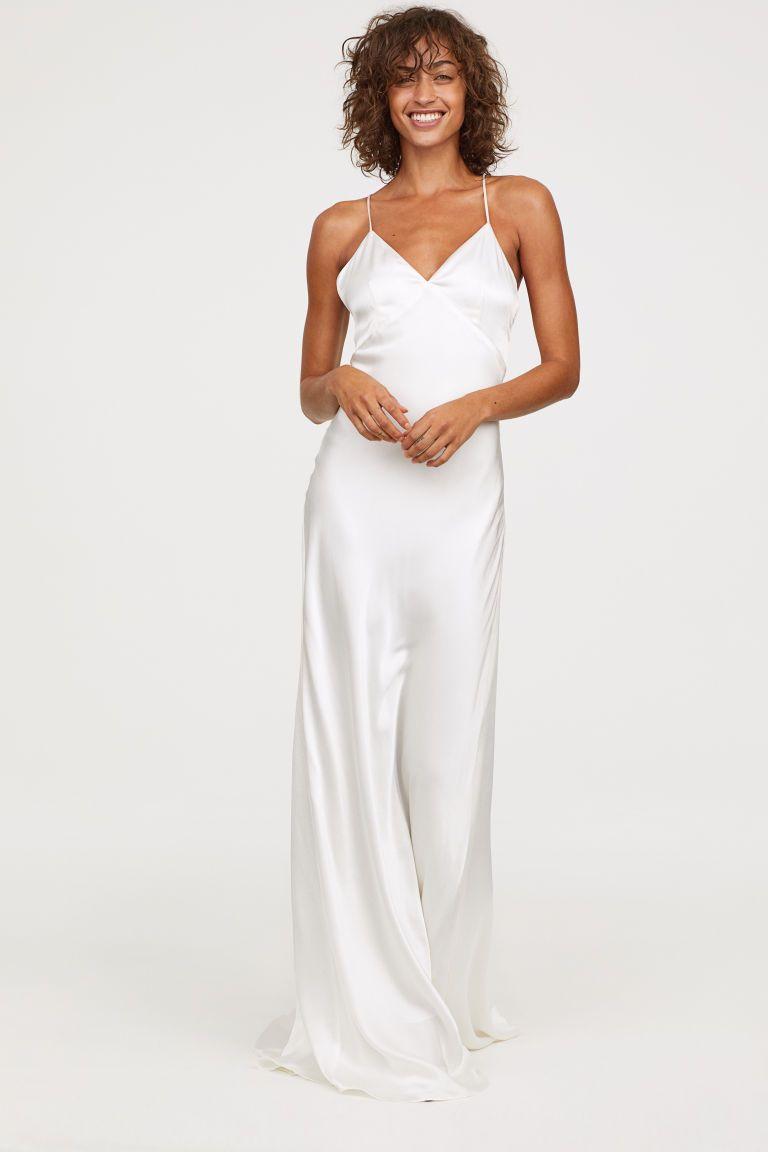 Long satin dress in the art of styling pinterest wedding