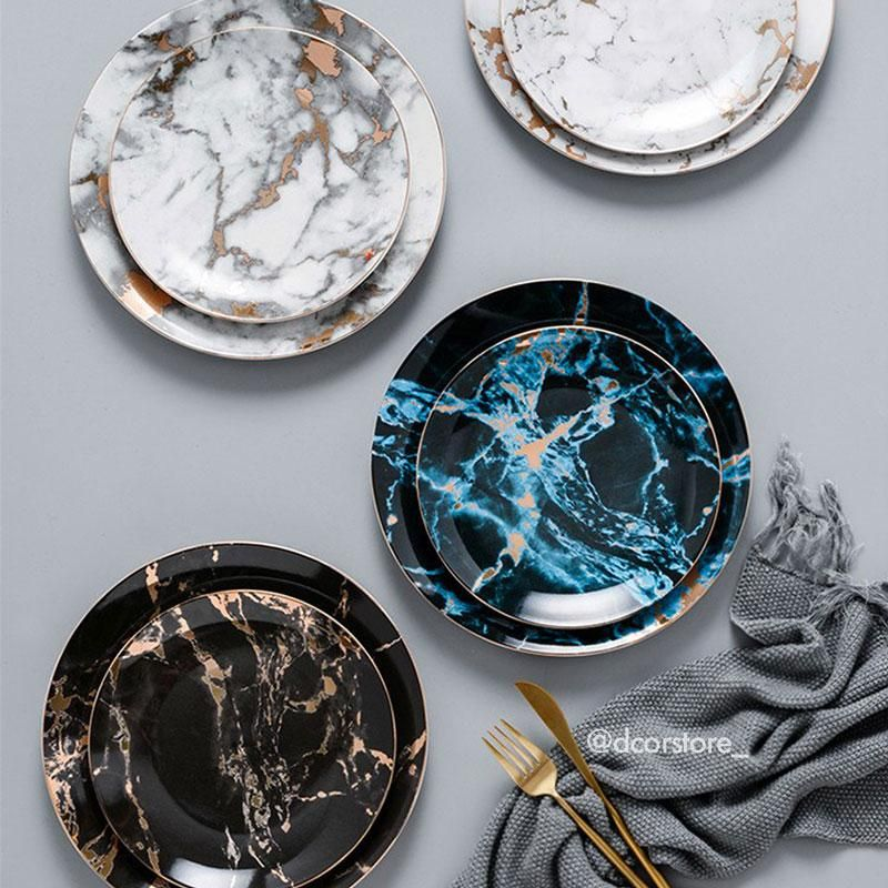 Carrara Marble Plates Marble Plates Luxury Dinnerware