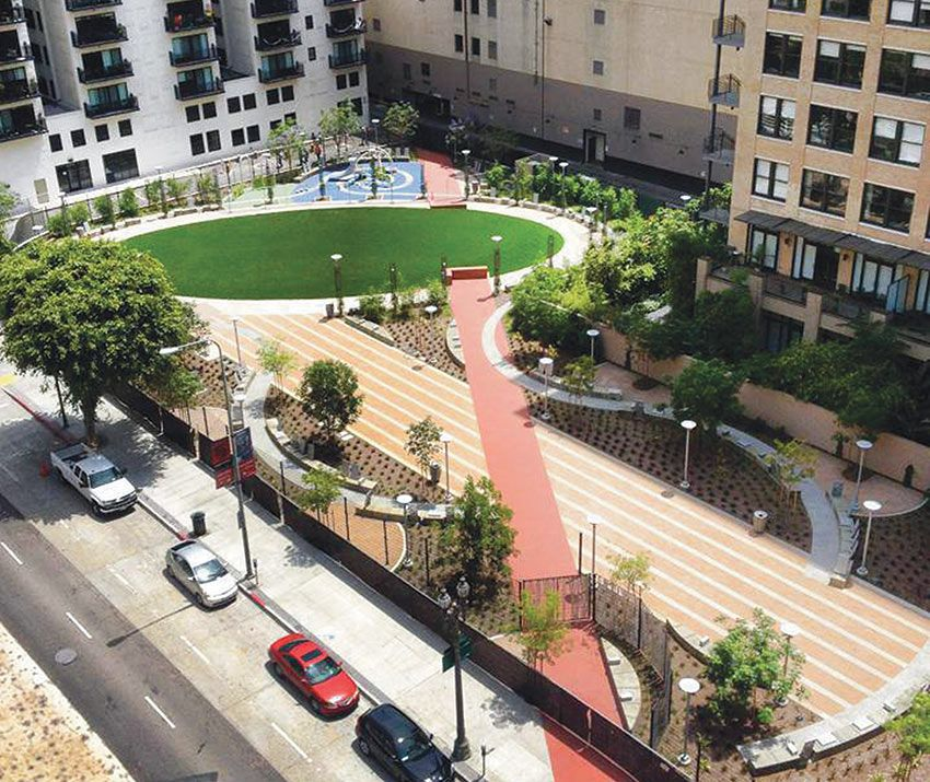 Urban Backyard Spring Street Pocket Park Pinned From