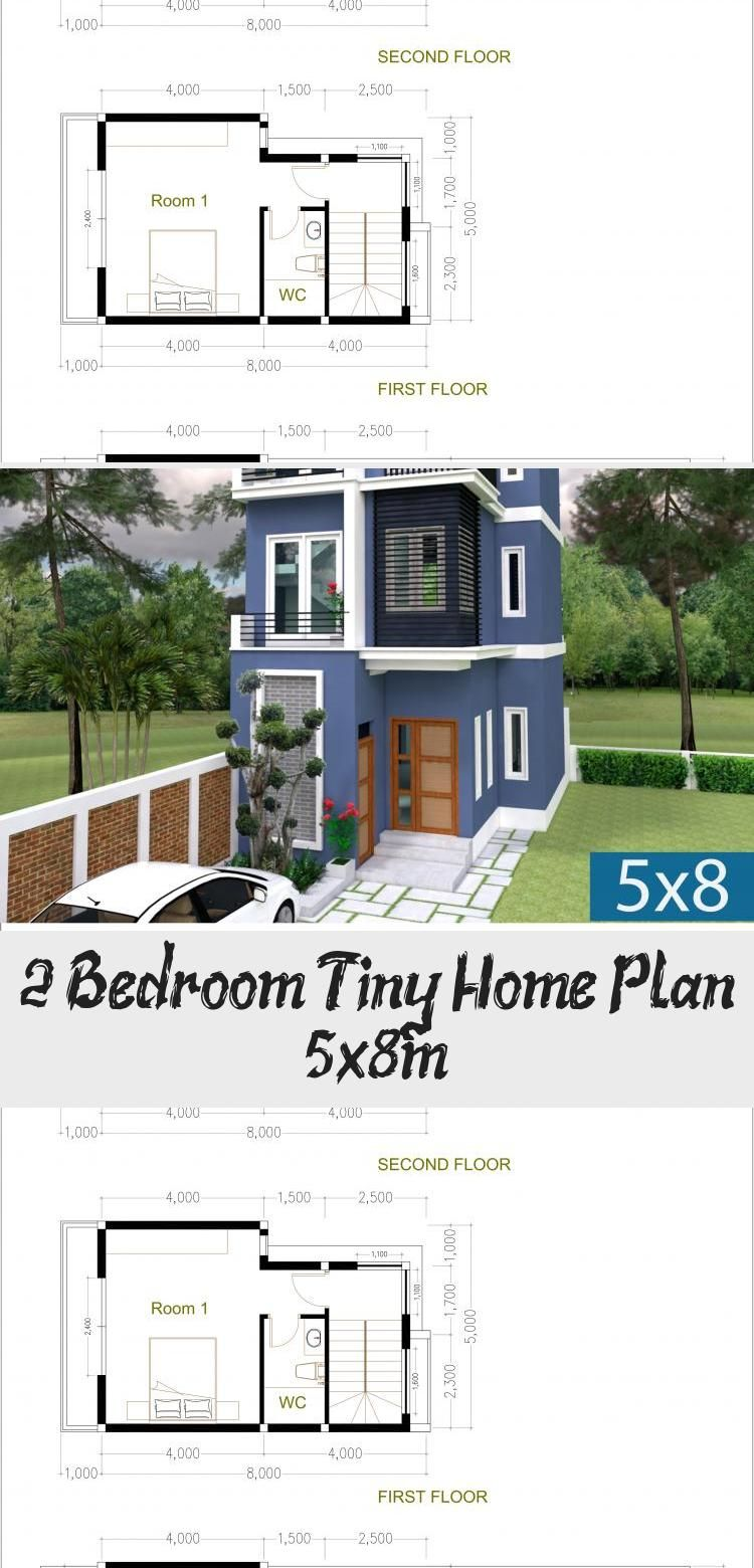 2 Bedroom Tiny Home Plan 5x8m SamPhoas Plansearch
