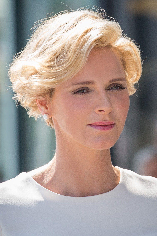 Styling für kurze Haare: Fürstin Charlène: neue Frisuren  Styling