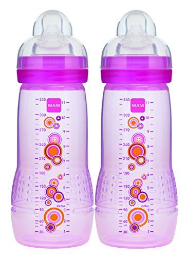 Mam Baby Bottle Girl 11 Ounces 2count Read More At The Image Link Note It Is Affiliate Link To Amazon Eastcoast Baby Bottles Bottle Girls Bottle